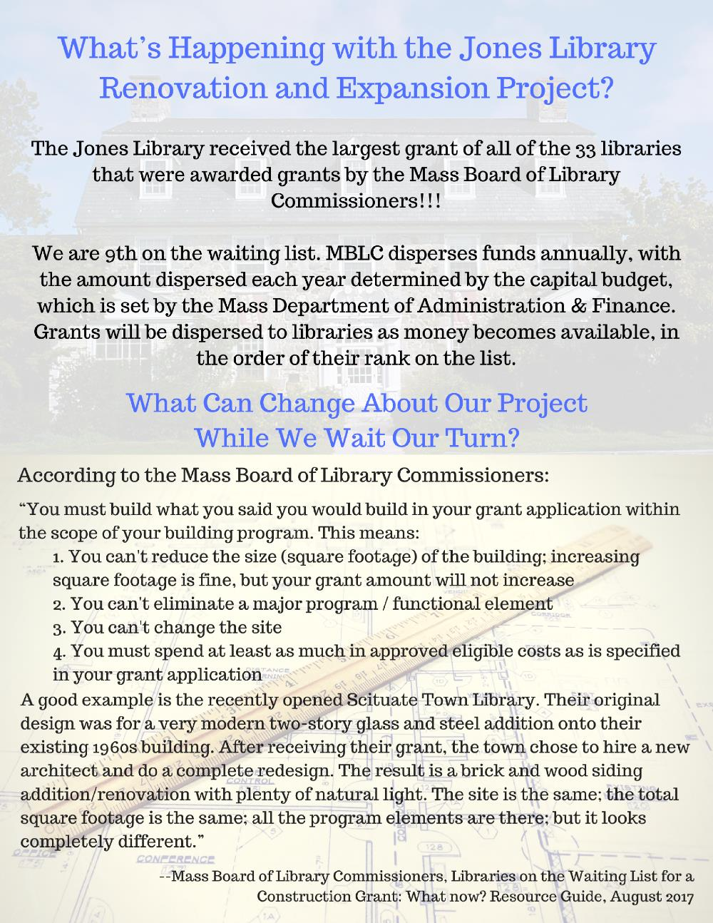 What's Happening with the Jones Library Renovation and Expansion Project?